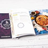 Spice Pots Happy Cooking Gift Set - 5 Indian Spices, Cookbook and a Candle